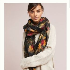 Anthropologie Accessories - Like new floral scarf.